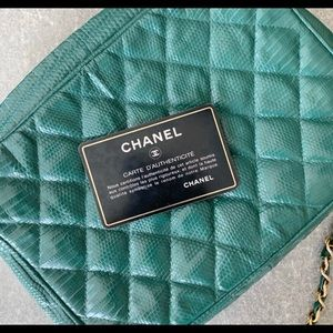 Lizard soon vintage and auth Chanel